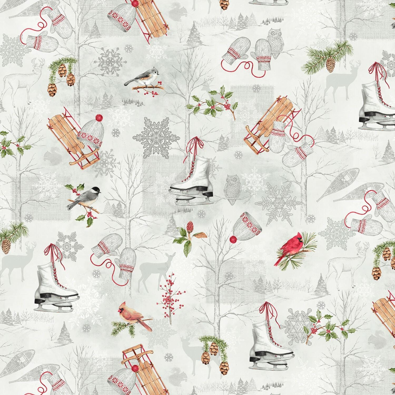 Winter Wonderland - All Over Print - 1/2m cut 55774
