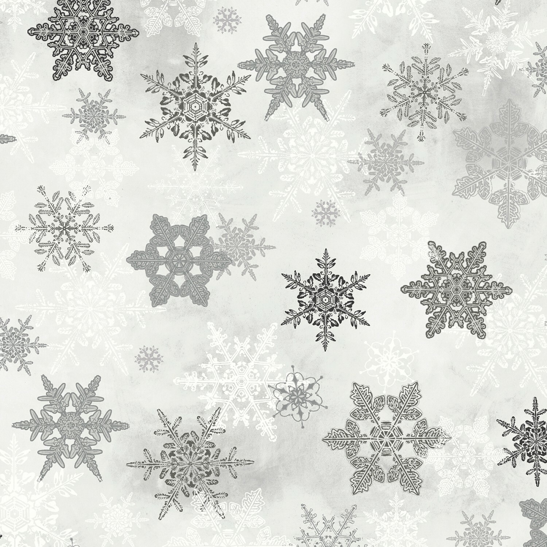 Winter Wonderland - Silver Snowflakes - 1/2m cut 55778