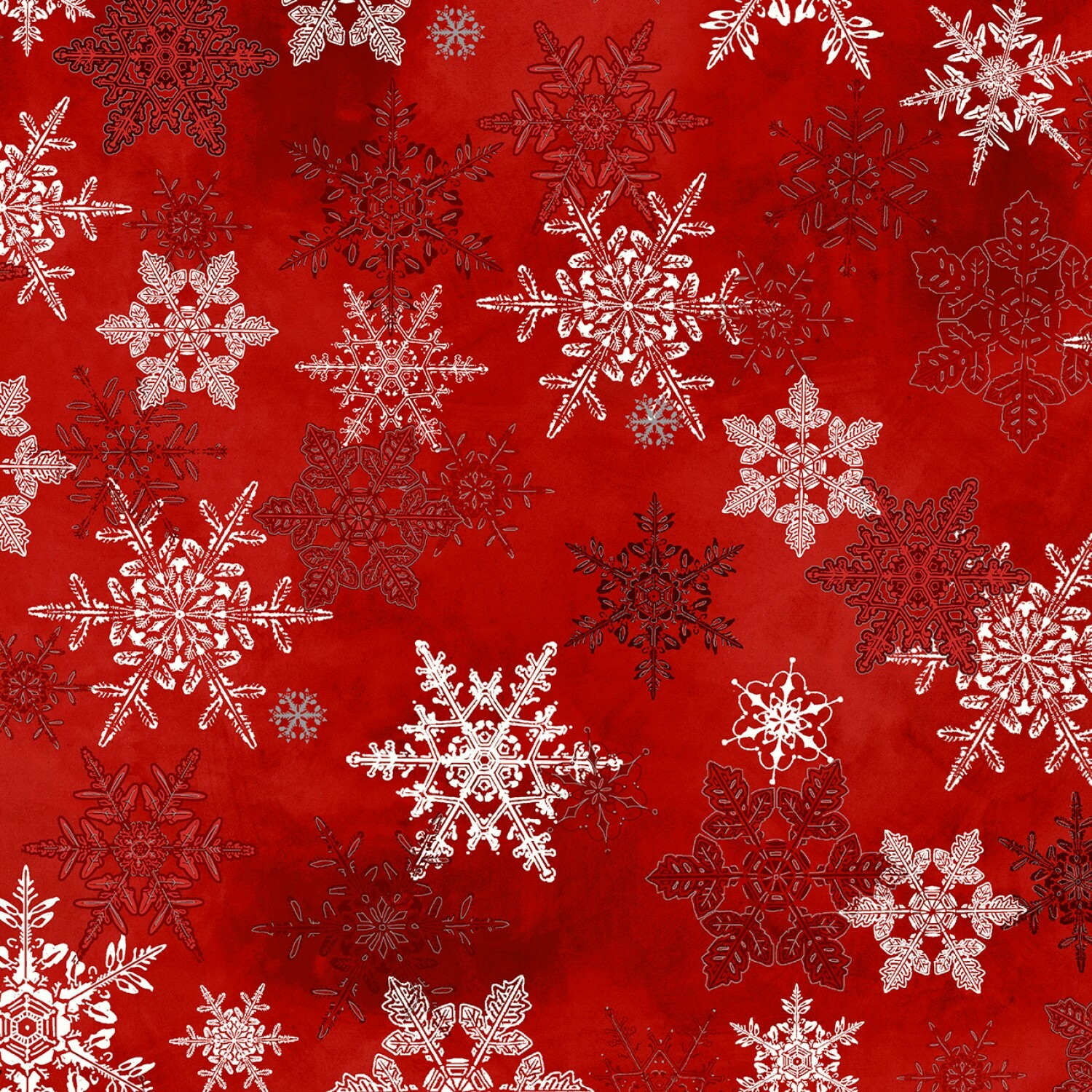 Winter Wonderland - Red Snowflakes - 1/2m cut 55779