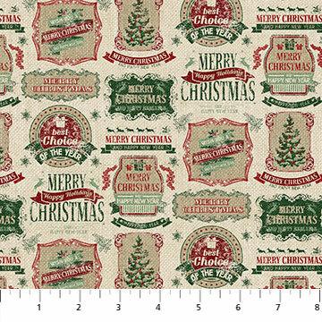 Vintage Christmas - Vintage Tags - 1/2m cut 55782