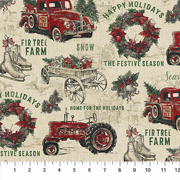 Vintage Christmas - Allover Print - 1/2m cut 55780