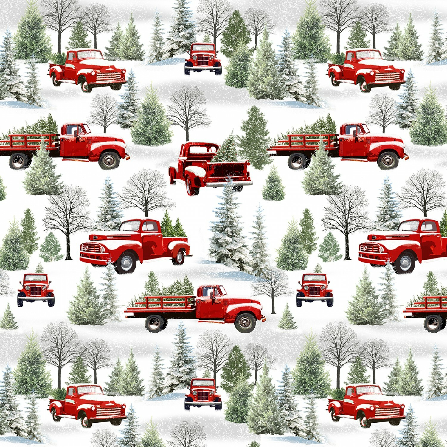 Grey/Red Scenic Trucks - The Tradition Continues - 1/2m Cut 55798
