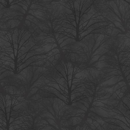 Grey Trees - Holiday Heartland- 1/2m Cut 55802
