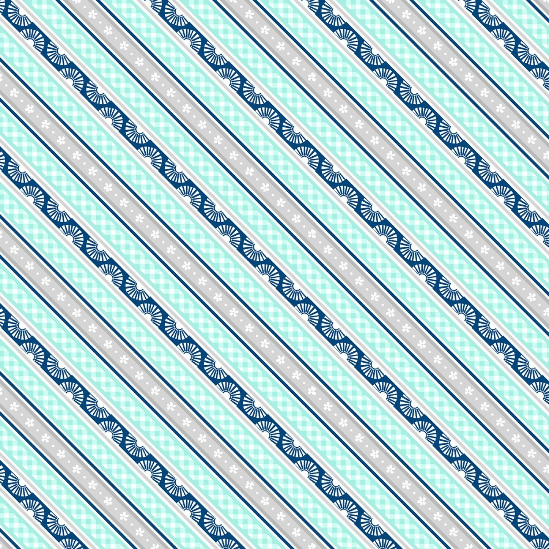 Grey & Teal Stripe - Adventure Time by Wilmington Fabrics - 1/2m cut 55824