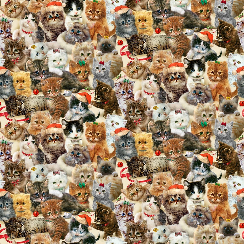All over Kittens - Fireside Kittens By Henry Glass - 1/2m cut 55864