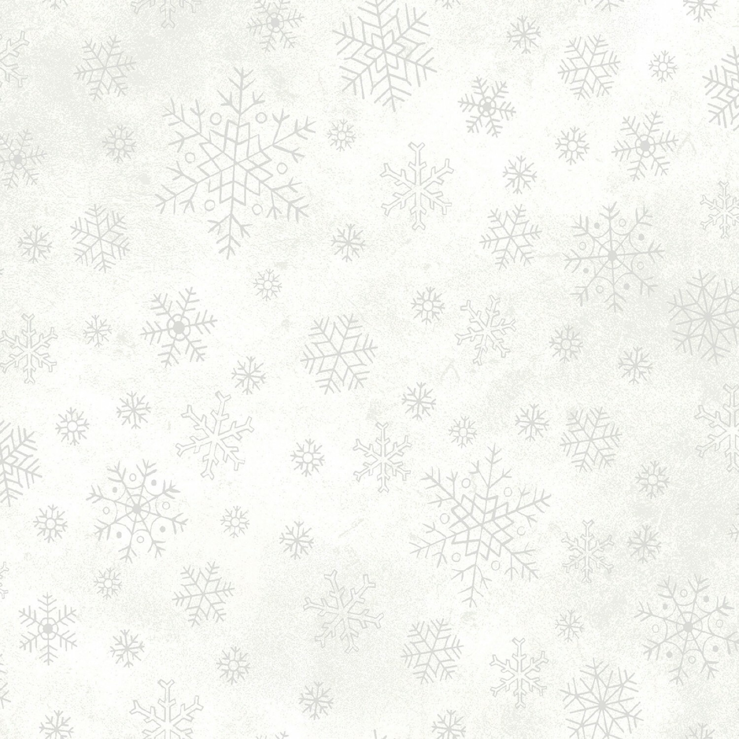Snowflake - White - 1/2m cut 55877