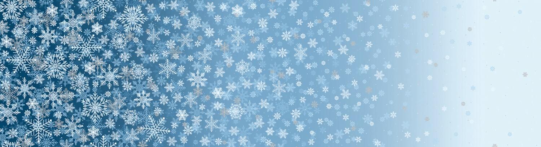 First Snowfall - Blue - 1/2m cut 55875