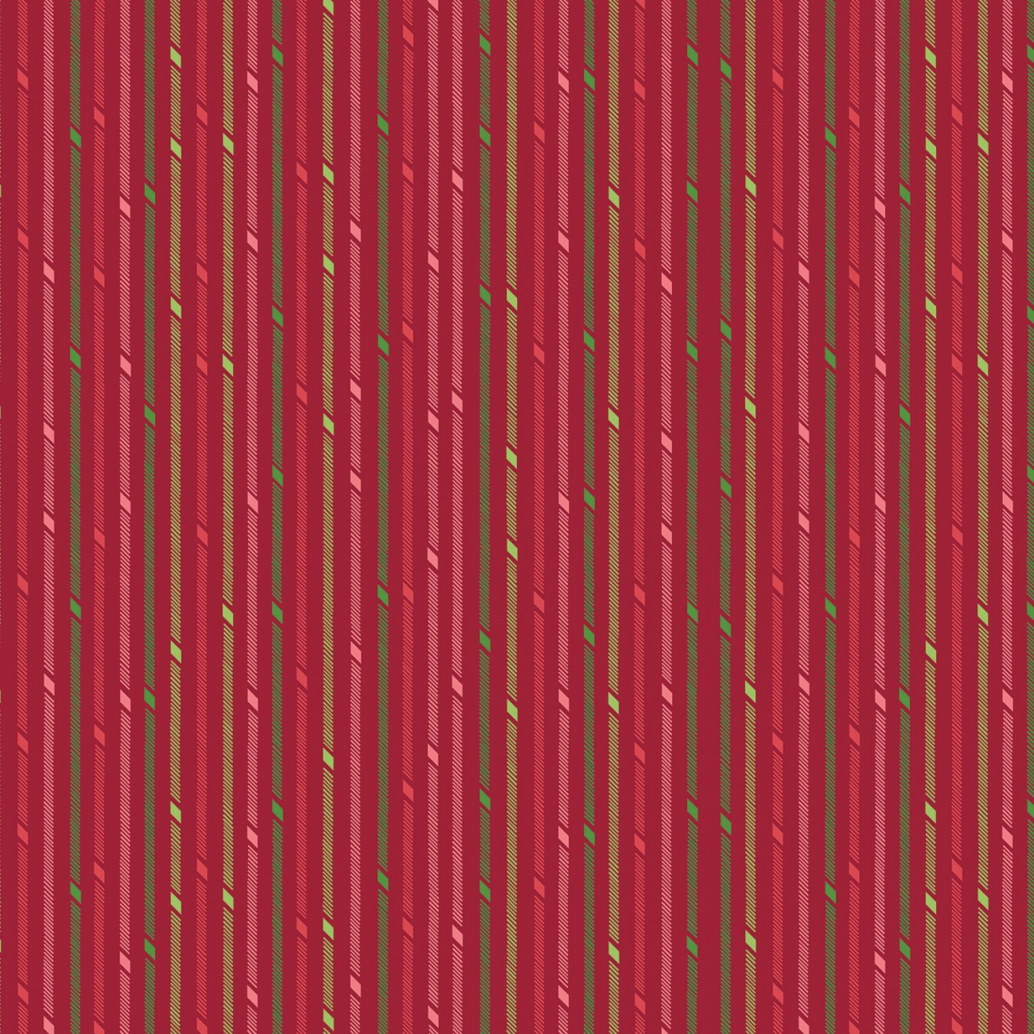 Red Candy Stripe - Better Not Pout by Nancy Halvorsen - 1/2m cut 55879