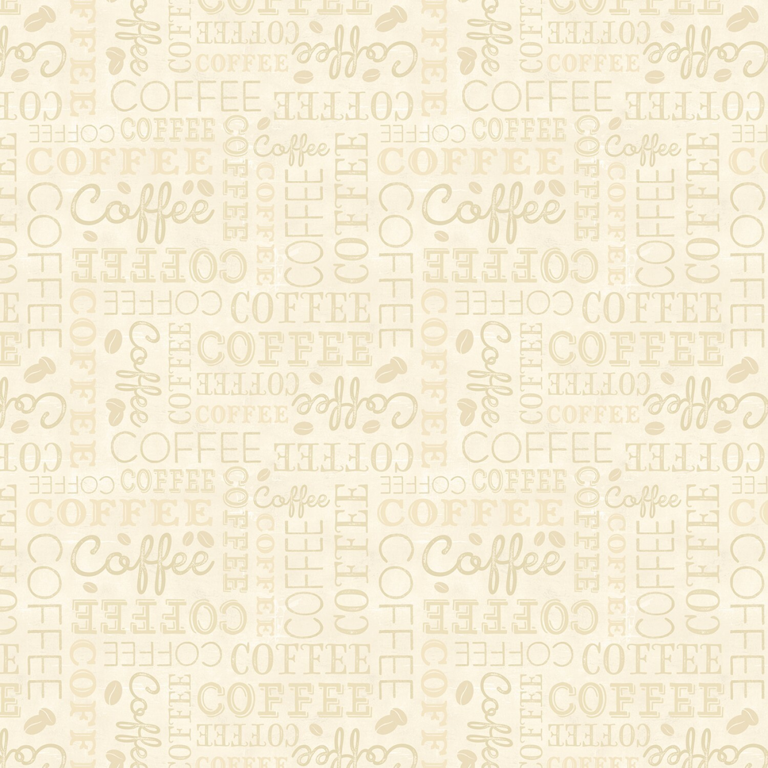 Words - Coffee Time by Wilmington Fabrics - 1/2m cut 55888