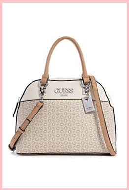 Guess Factory Muze Logo Dome Satchel Nude