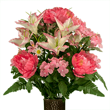 Bouquet #2: Pink Peonies and Hydrangea