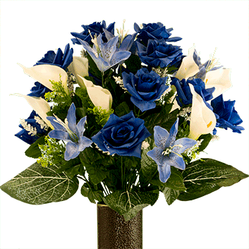 Bouquet #3: Blue Rose With Blue Tiger Lily