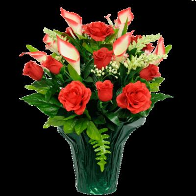 Mausoleum #9:  Red Rose Calla Lily