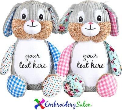 Harlequin Bunny Huggable