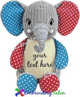 Harlequin Elephant Huggable