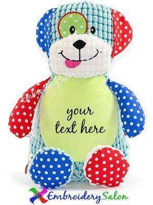 Harlequin Puppy Dog Huggable
