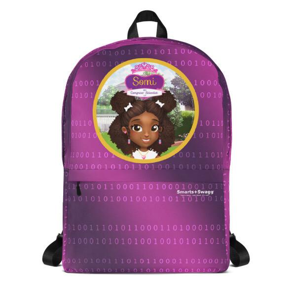 Somi Purple Laptop Backpack