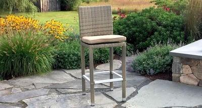Gray Ibiza Bar Chair