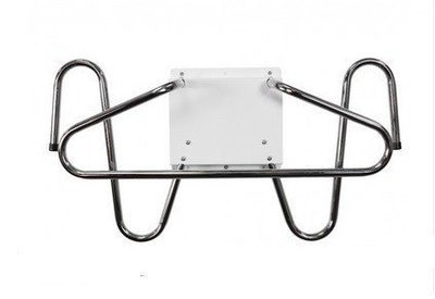 Wall Mounted Chrome Lead Apron and Glove Holder #AGP-6834