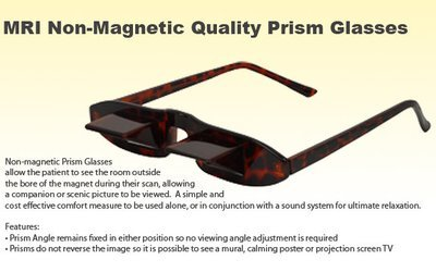 MRI Non-Magnetic Patient Glasses