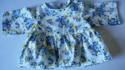 Top - Blue floral