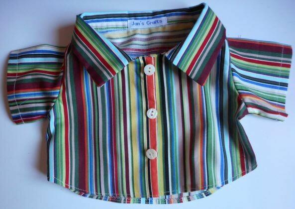 Shirt - stripe green tones