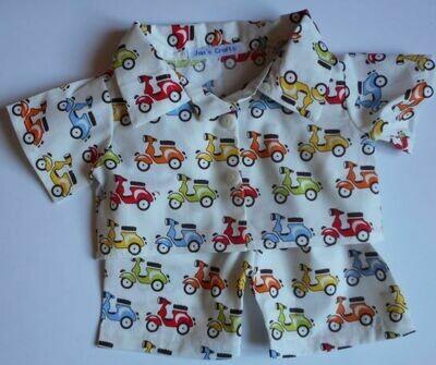 Pyjamas with collar - scooter print