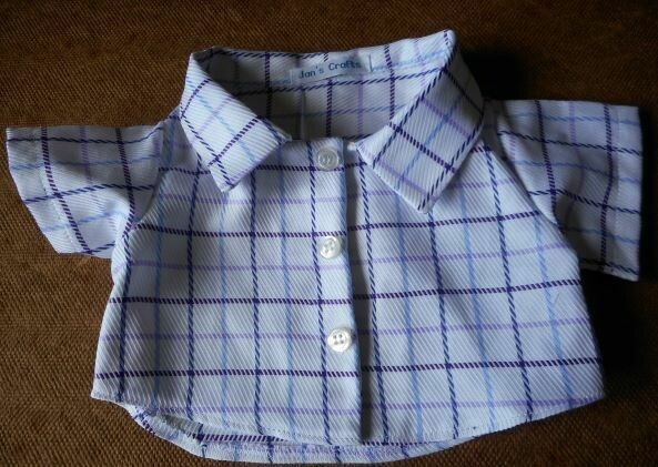 Shirt - purple and blue check