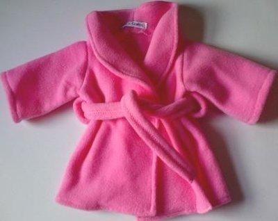 Dressing gown - pink fleece