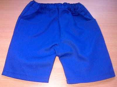 Trousers with front pockets - royal blue twill