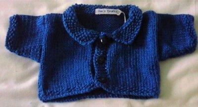Cardigan with collar - dark blue