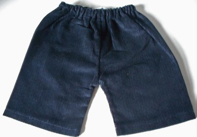 Trousers with back pockets - dark navy corduroy