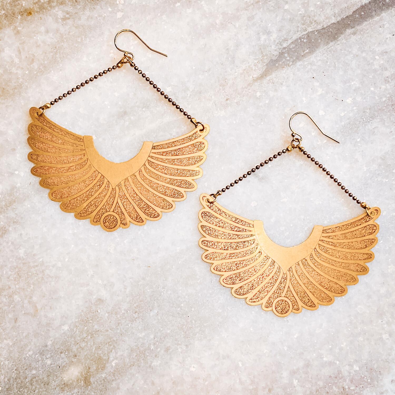 feather wing earrings
