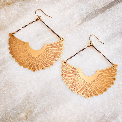 feather wing earrings