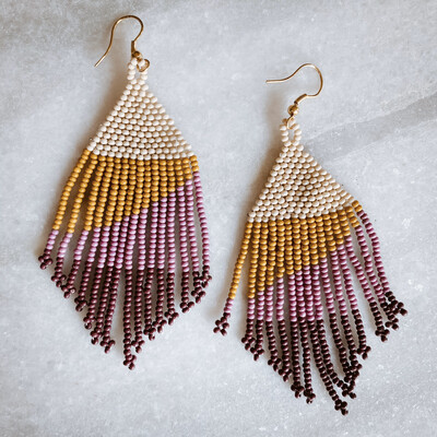 Citron and Lilac Ombre Fringe SBER1901LI