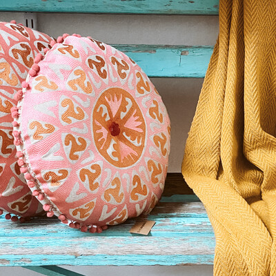Round cotton pillow Df2139