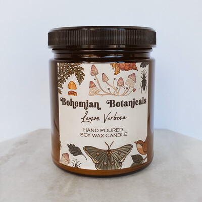 Bohemian Botanical Candle
