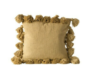 mustard yellow cotton pillow df0666