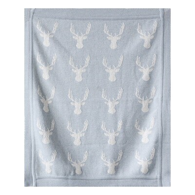 Grey Deer Blanket da9091