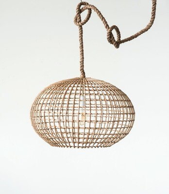 wicker lamp df0420