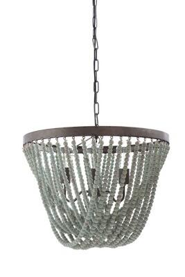 metal/wood chandelier da8264