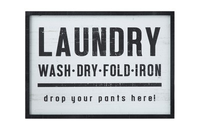 laundry enamel sign df1298