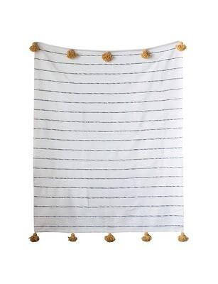 cotton striped bed spread df0487