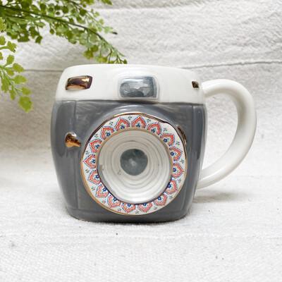 Folk Mug Charcoal Camera MUG366