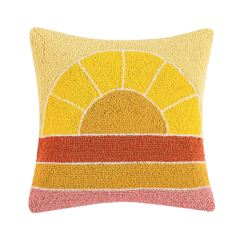 Retro Rainbow Hook Pillow