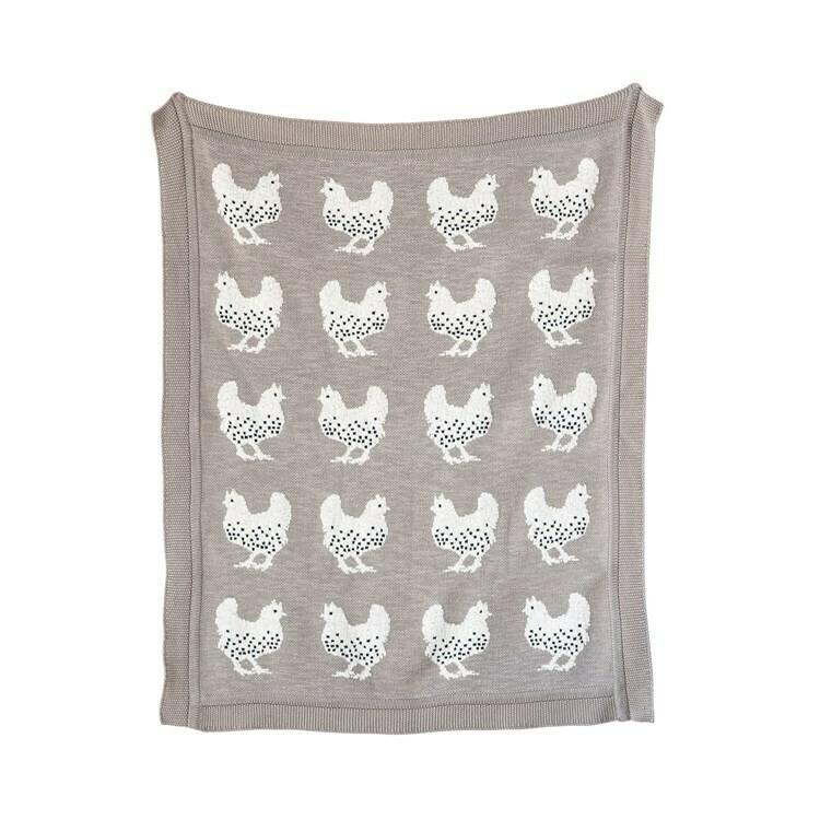 Cotton Baby Blanket Chickens DF0771