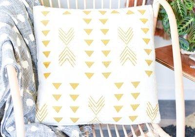 Mustard Yellow Mudcloth Pillow da9838