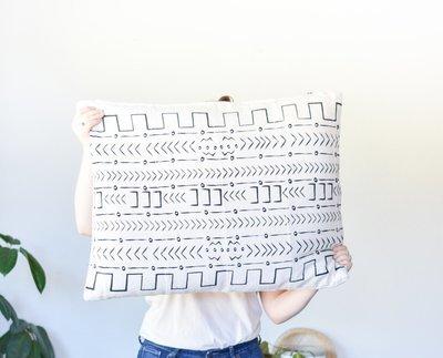 Mud cloth Pillow Rectangle Da9836