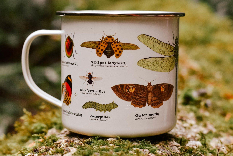 insect enamel mug