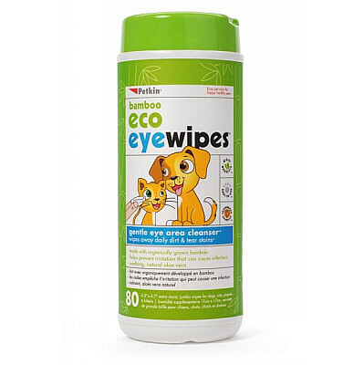 Petkin Bamboo Eco Eye Wipes